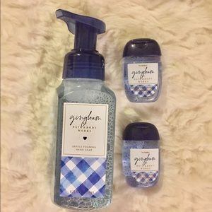 Bath and body works hand soap & gels set